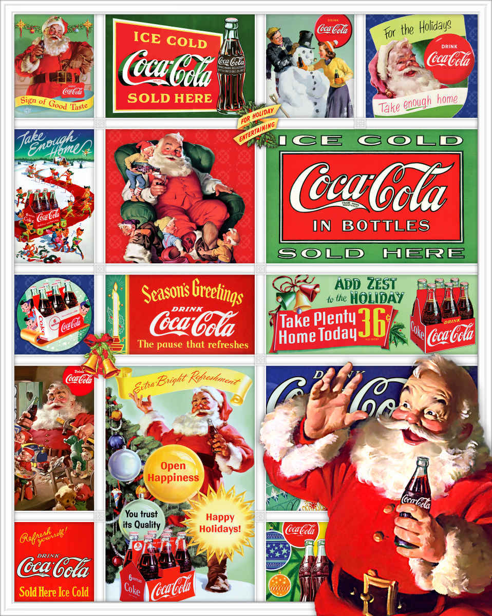 Santa's Coca-Cola Christmas - 1500pc Jigsaw Puzzle By Springbok
