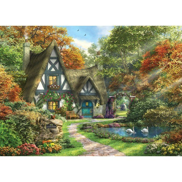 Picture Perfect III: Autumn Cottage - 1000pc Jigsaw Puzzle by Holdson  			  					NEW