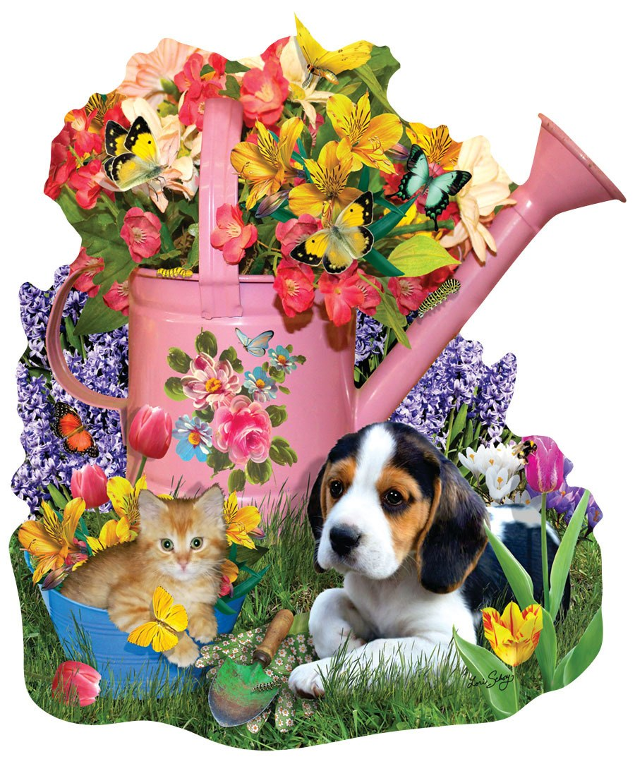 Spring Watering Can - 1000pc Jigsaw Puzzle by Sunsout  			  					NEW