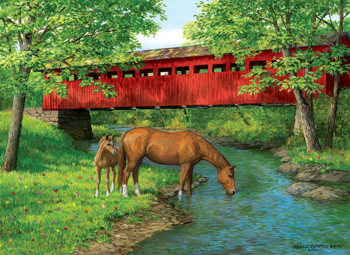 Weirs: Sweet Water Bridge - 1000pc Jigsaw Puzzle by Eurographics  			  					NEW