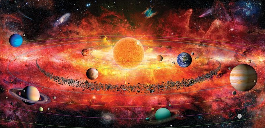 The Solar System Puzzle - 500pc Jigsaw Puzzle by A Broader View  			  					NEW