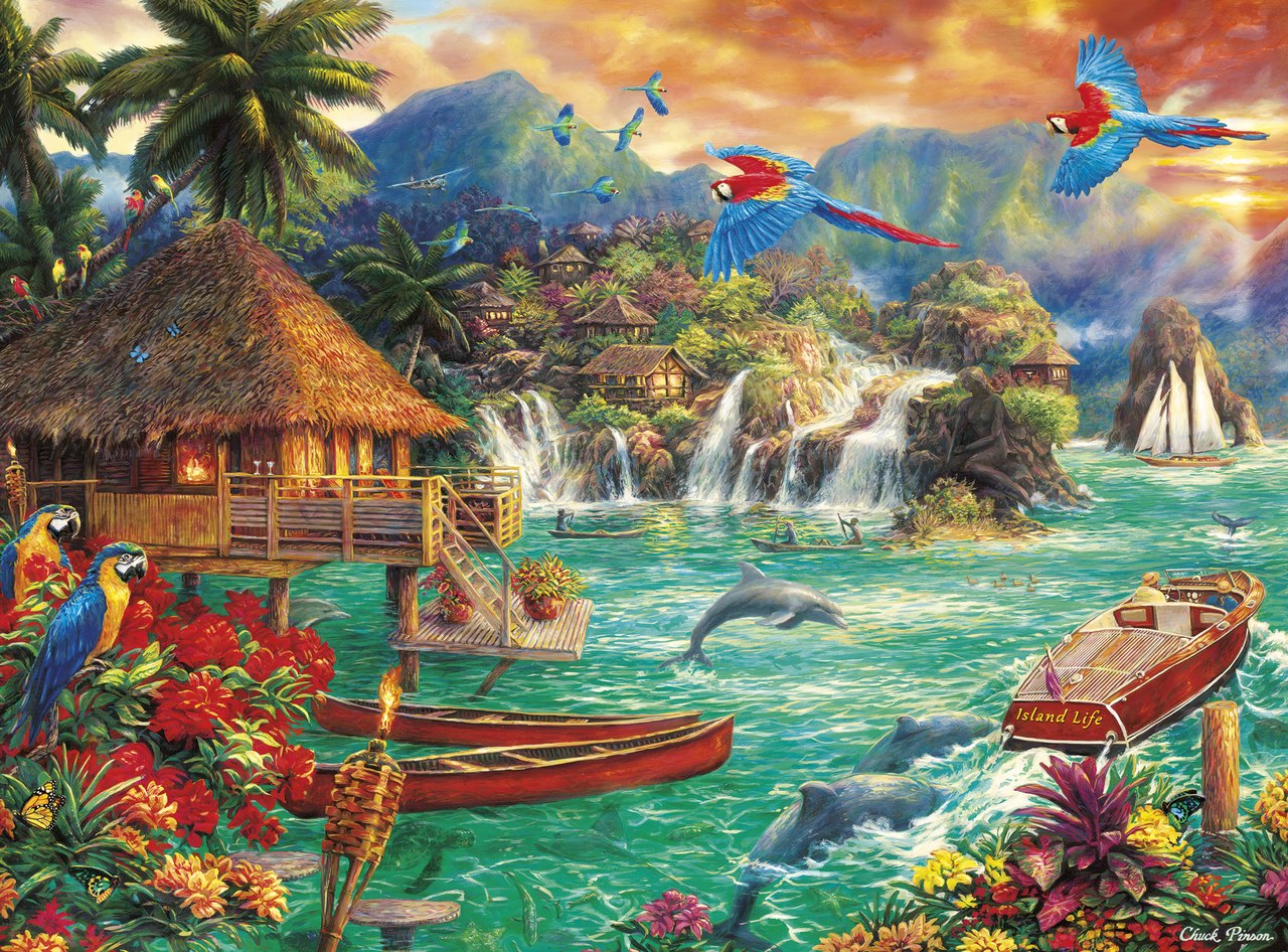 Chuck Pinson: Island Life - 1000pc Jigsaw Puzzle By Buffalo Games