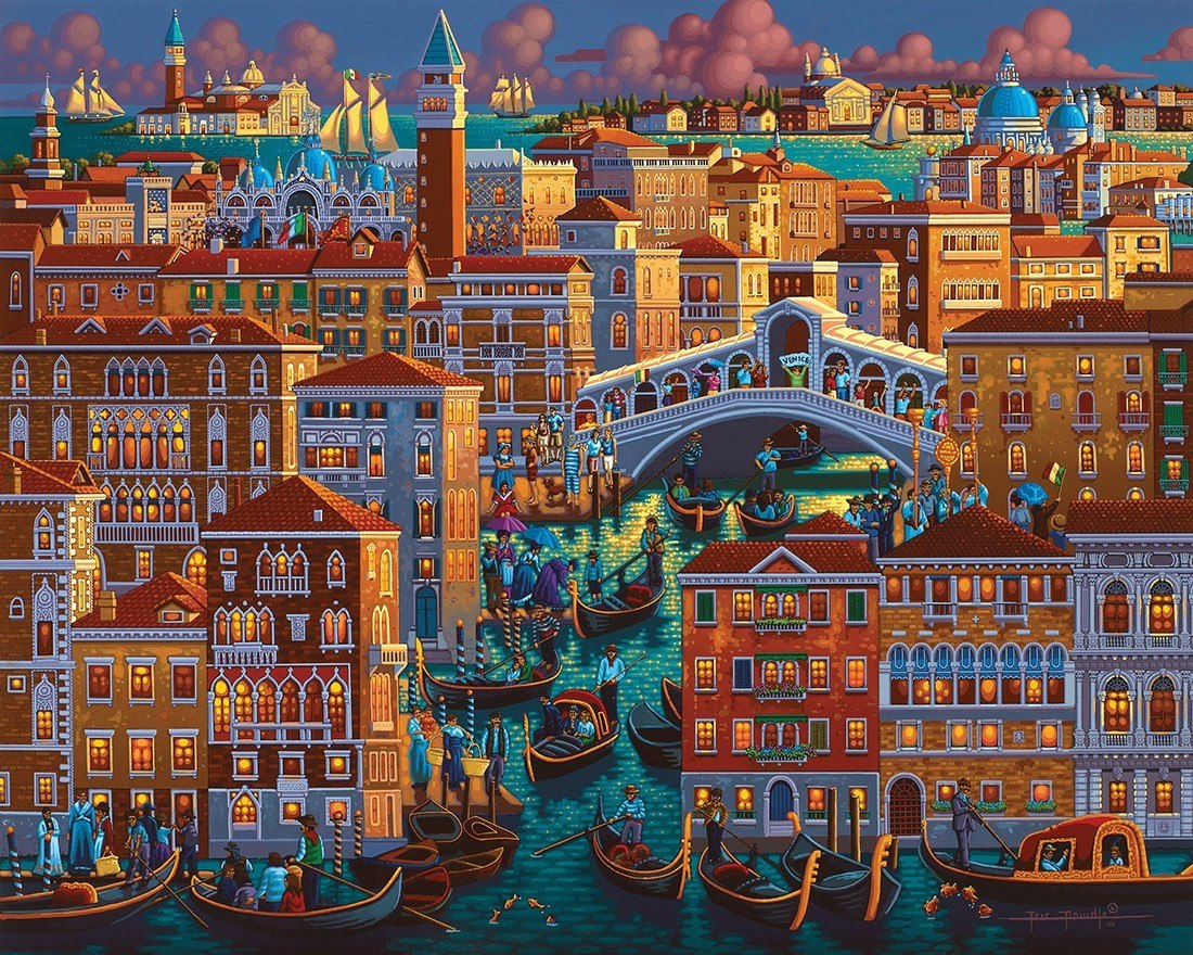 Venice - 1000pc Jigsaw Puzzle by Dowdle - image main