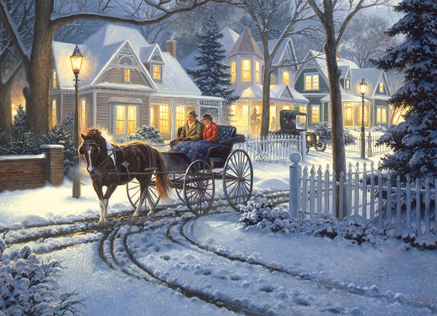 Horse-Drawn Buggy - 1000pc Jigsaw Puzzle by Cobble Hill
