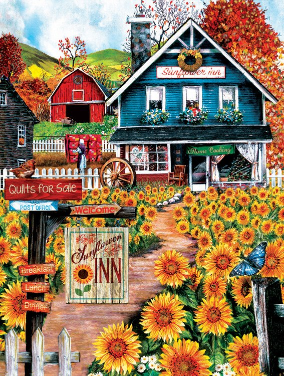 Welcome to the Sunflower Inn - 300pc Jigsaw Puzzle By Sunsout