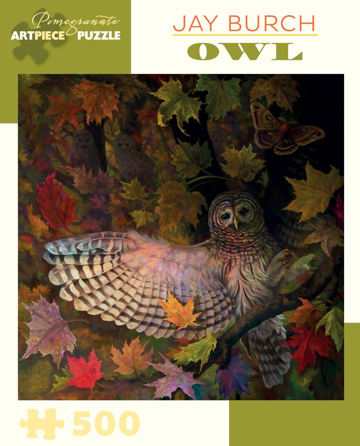 Burch: Owl - 500pc Jigsaw Puzzle by Pomegranate