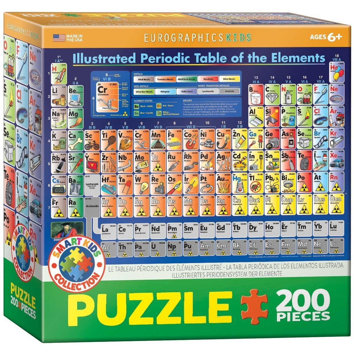 Illustrated Periodic Table of the Elements - 200pc Jigsaw Puzzle by EuroGraphics  			  					NEW