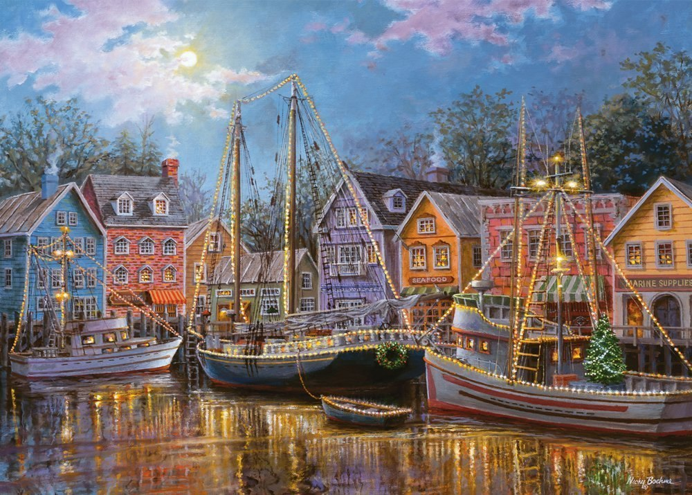 Ships Aglow - 500pc Large Format Jigsaw Puzzle by Ravensburger  			  					NEW