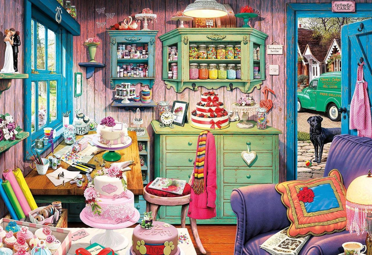 Cake Shed - 2000pc Jigsaw Puzzle by Buffalo Games  			  					NEW