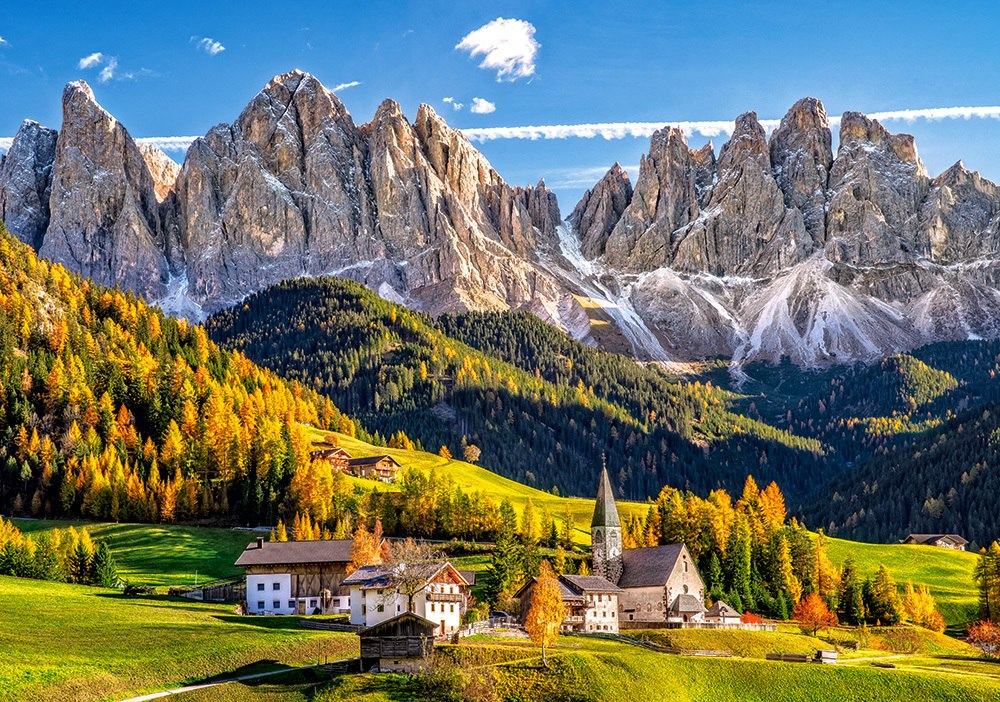 Santa Maddalena in Val di Funes, Italy - 500pc Jigsaw Puzzle by Castorland  			  					NEW