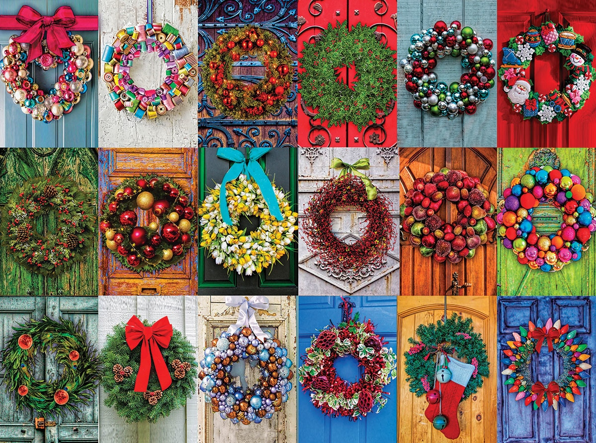 Holiday Wreaths - 550pc Jigsaw Puzzle By White Mountain