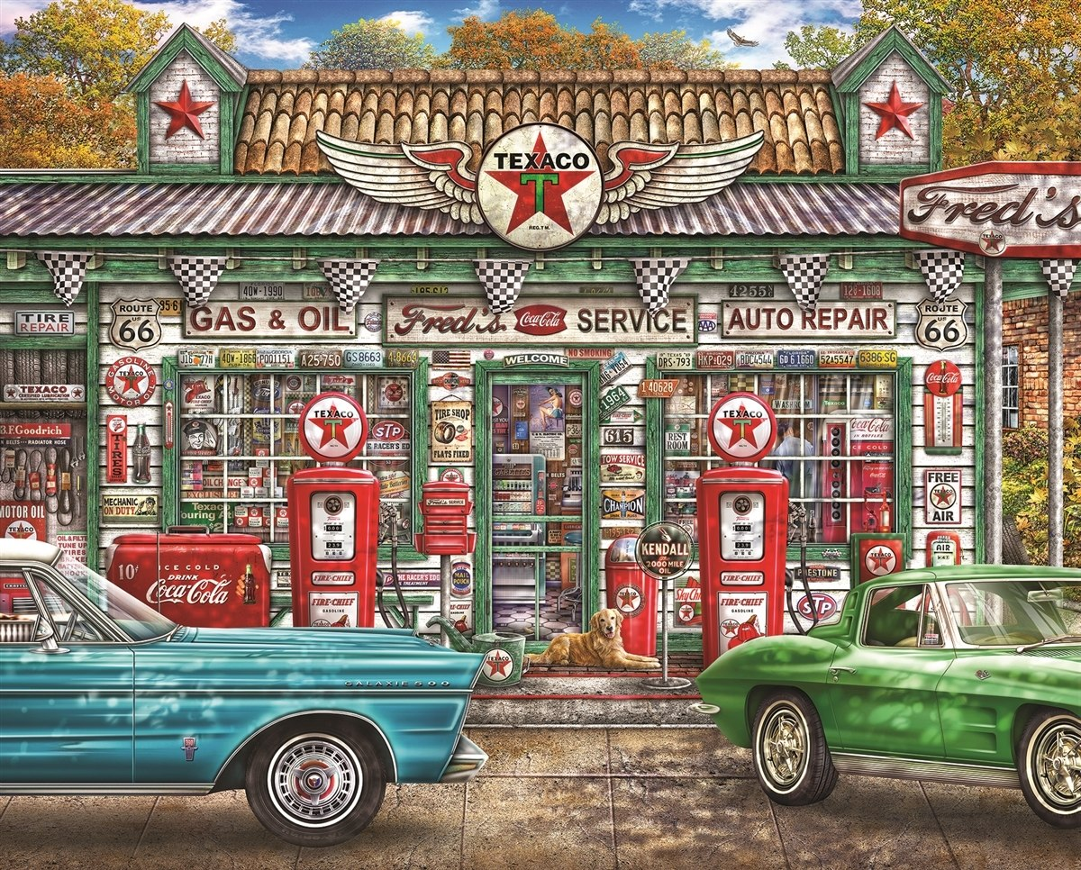 Fred's Service Station - 1000pc Jigsaw Puzzle by Springbok  			  					NEW