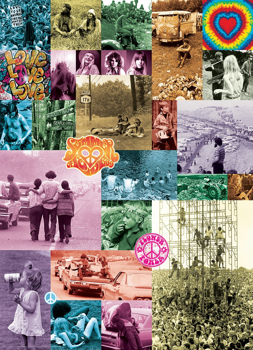 60s Love Collection by Baron Wolman - 1000pc Jigsaw Puzzle by Eurographics