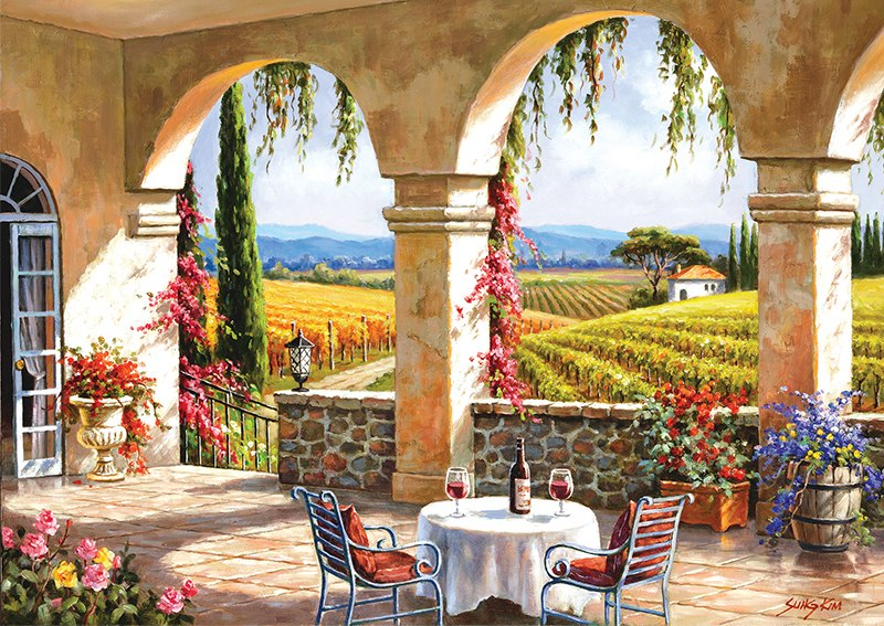 Wine Country Terrace - 1500pc Jigsaw Puzzle by Anatolian