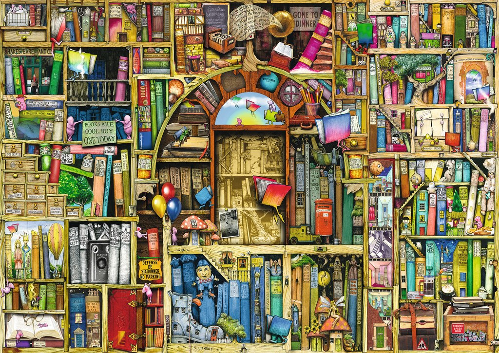 Bizarre Bookshop 2 - 1000pc Jigsaw Puzzle By Ravensburger