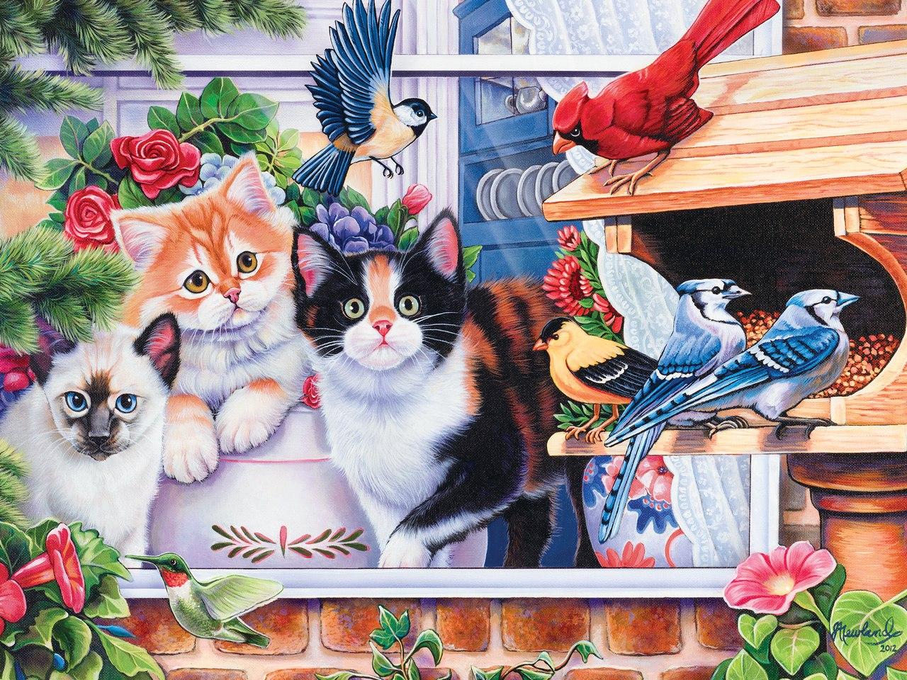 Springtime Wonders - 400pc Jigsaw Puzzle by Masterpieces  			  					NEW