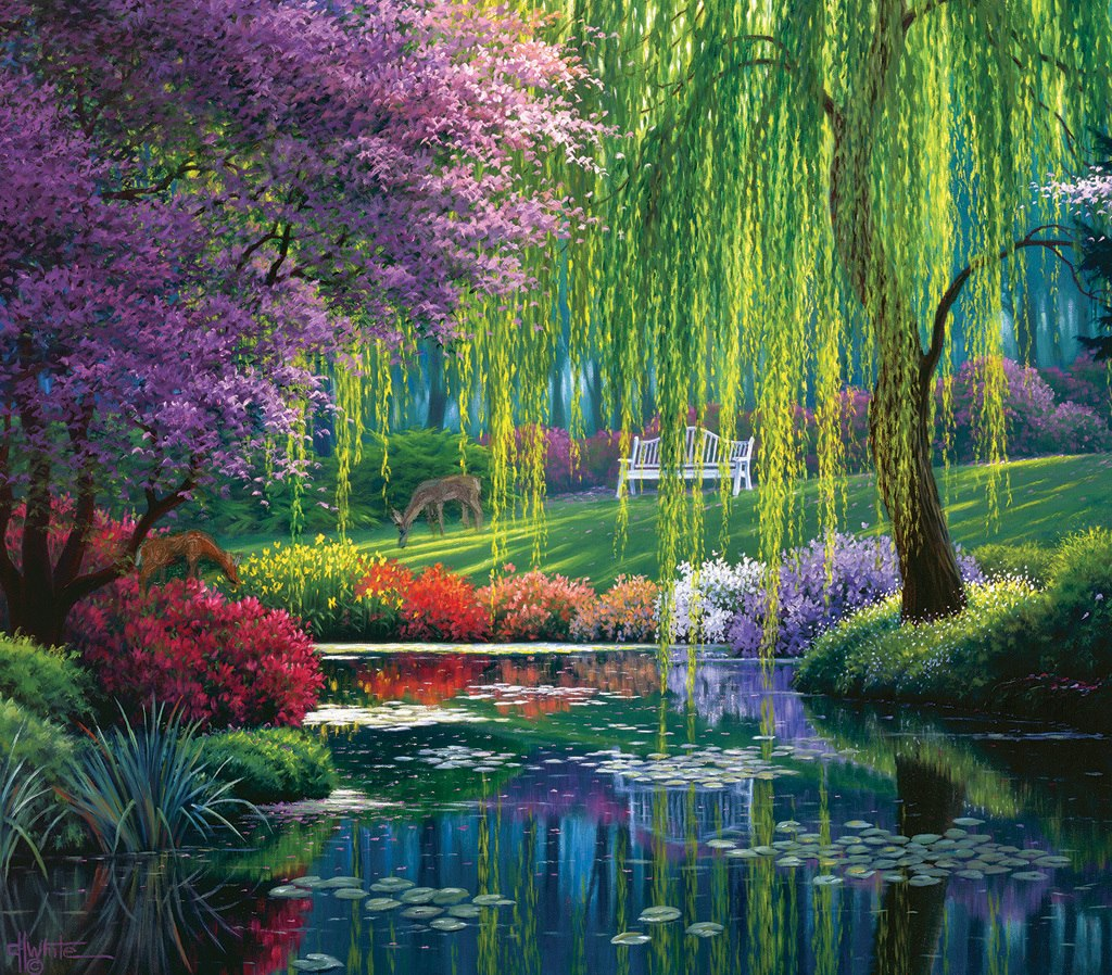 Willow Pond - 300pc Large Format Jigsaw Puzzle by SunsOut