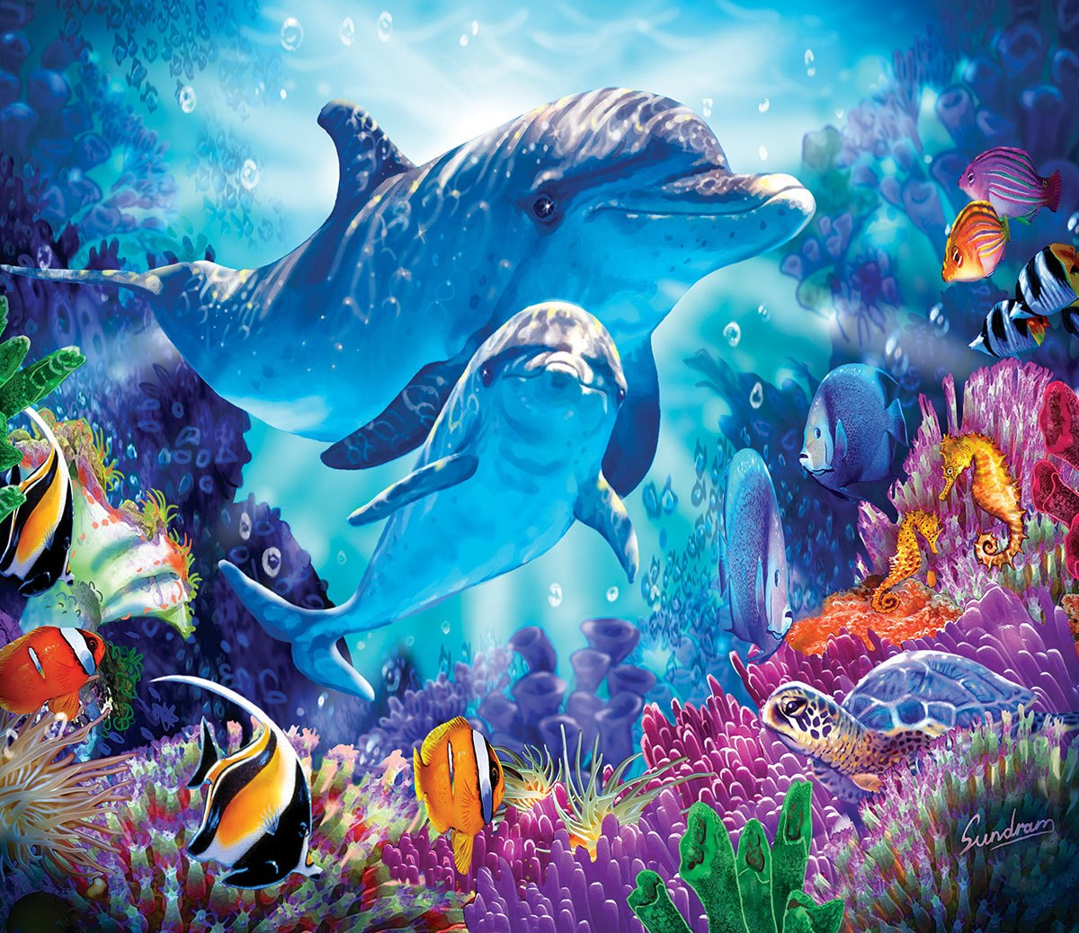 Dolphin Family - 200pc Jigsaw Puzzle By Sunsout  			  					NEW