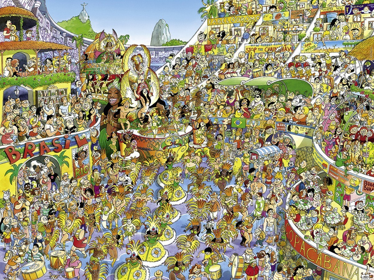 Prades: Carnival in Rio - 1500pc Jigsaw Puzzle By Heye  			  					NEW
