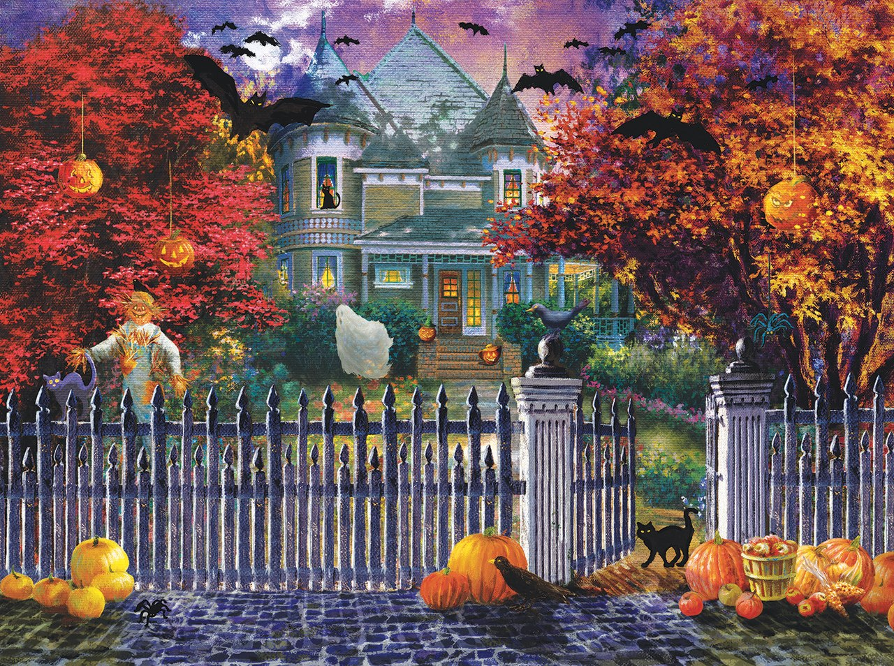 Halloween House - 1000pc Jigsaw Puzzle by Sunsout  			  					NEW
