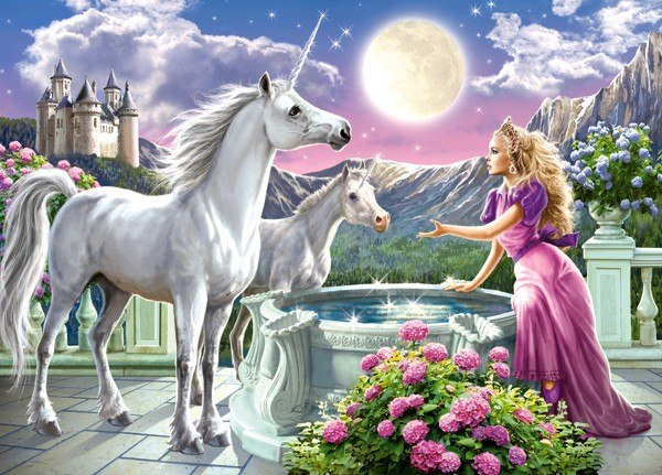 Princess and her Unicorns - 120pc Jigsaw Puzzle By Castorland