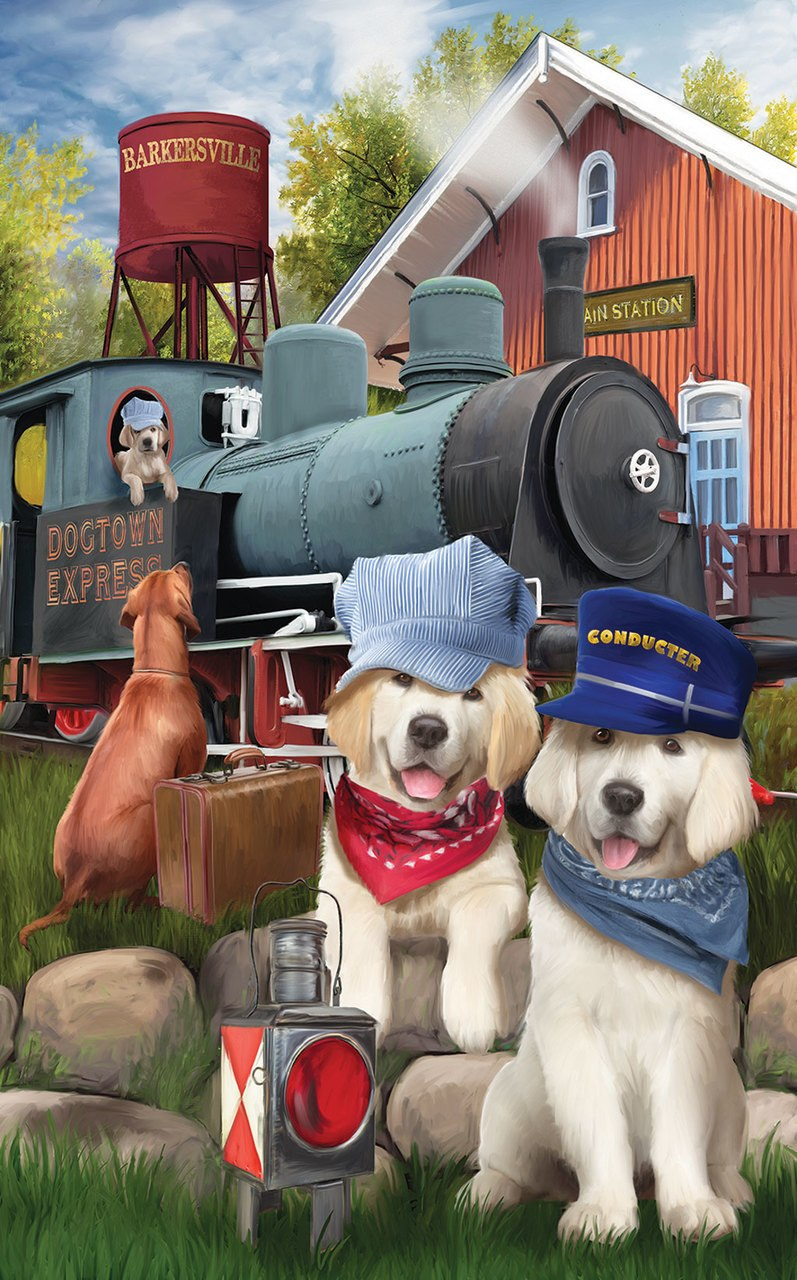 Dogtown Express - 300pc Large Format Jigsaw Puzzle by Sunsout