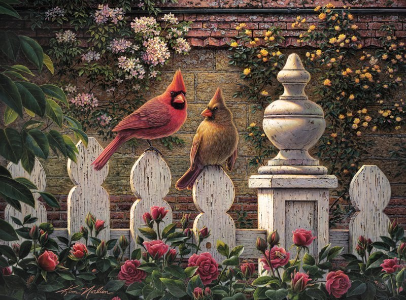 Kim Norlien: Emily's Garden - 1000pc Jigsaw Puzzle by Buffalo Games - image main