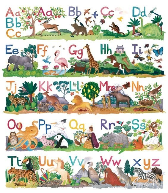 Winteringham: Alphabet - 300pc Jigsaw Puzzle by Pomegranate  			  					NEW