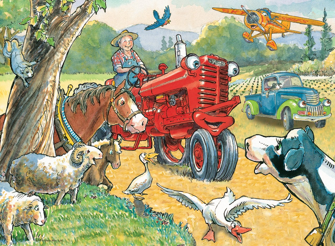 Tractor Mac: Out for a Ride - 60pc Jigsaw Puzzle by Masterpieces  			  					NEW