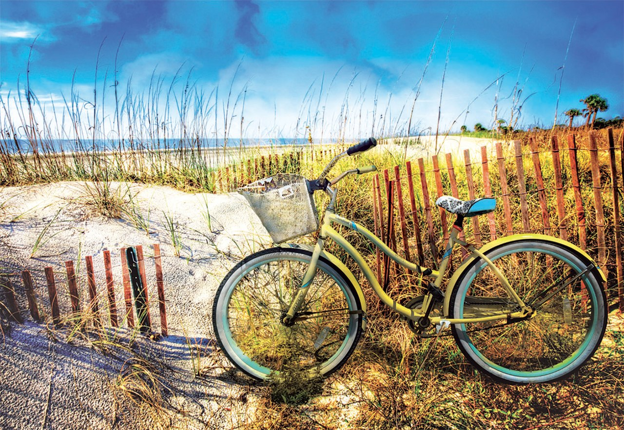 Bike in the Dunes - 1000pc Jigsaw Puzzle by Educa  			  					NEW