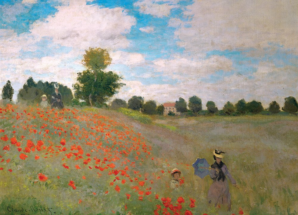 The Poppy Field / Claude Monet - 1000pc Jigsaw Puzzle by Eurographics
