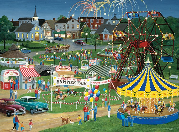 Country Fair - 500pc Jigsaw Puzzle by Lafayette Puzzle Factory