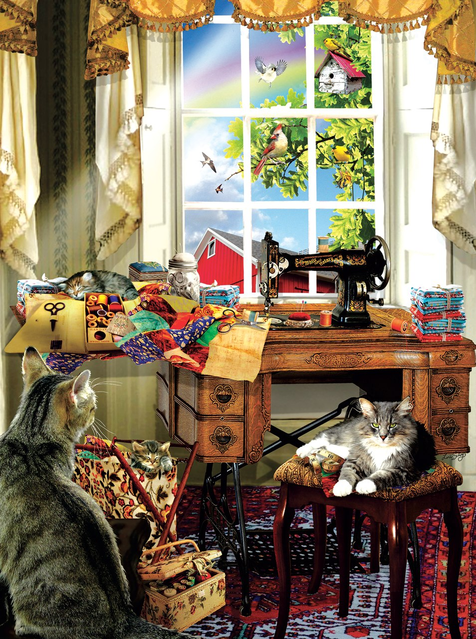 The Sewing Room - 300pc Jigsaw Puzzle By Sunsout  			  					NEW