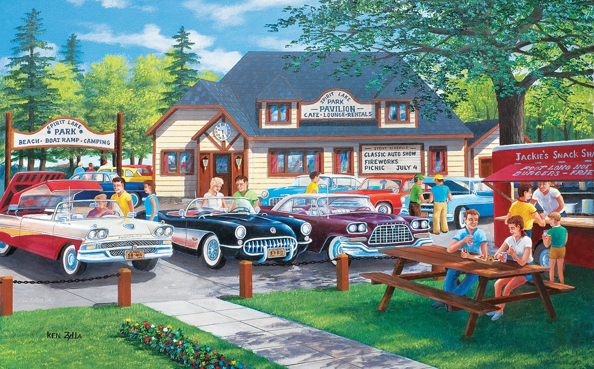 Life in the Past Lane - 300pc Jigsaw Puzzle by Sunsout  			  					NEW