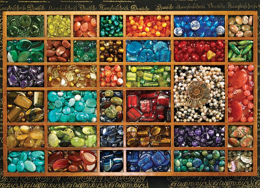 Bead Tray - 1000pc Jigsaw Puzzle By Cobble Hill