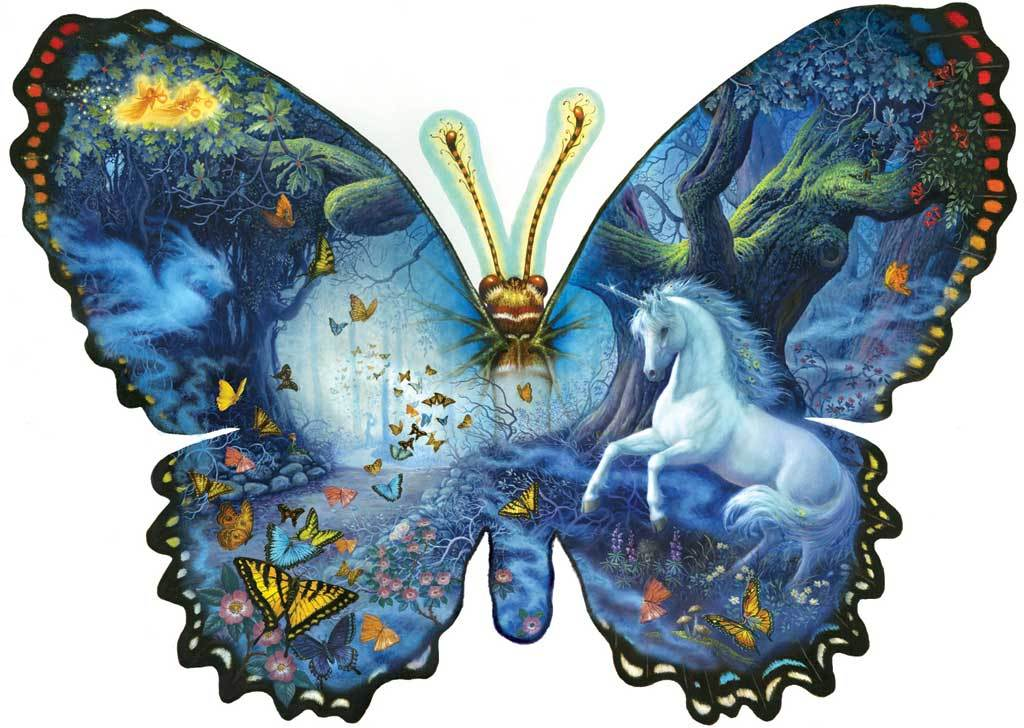 Fantasy Butterfly - 1000pc Shaped Jigsaw Puzzle By Sunsout