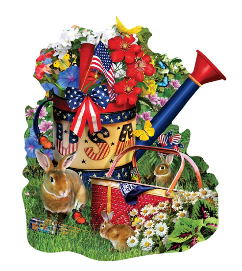 Summer Watering Can - 1000pc Shaped Jigsaw Puzzle By Sunsout  			  					NEW