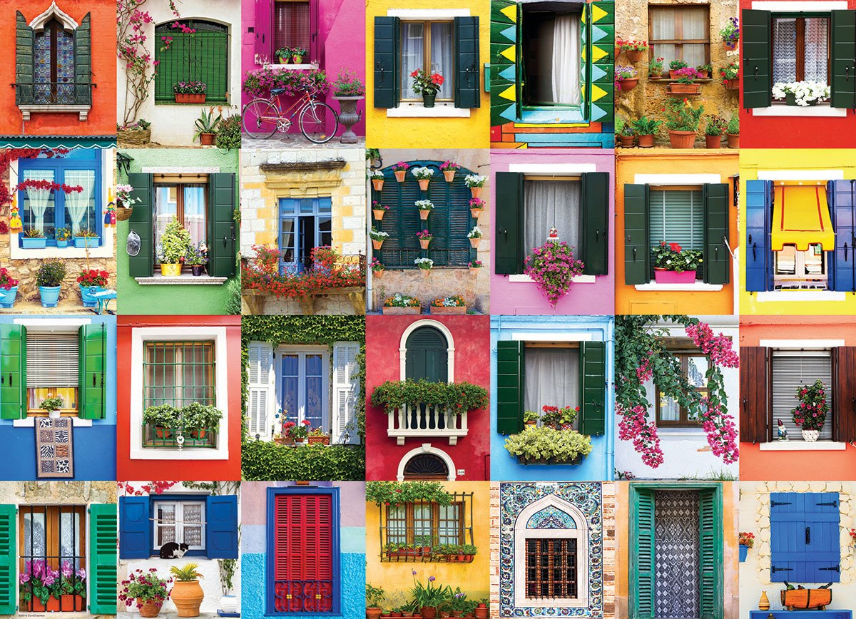 Mediterranean Windows - 1000pc Jigsaw Puzzle by Eurographics  			  					NEW