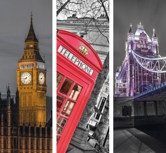 London Trittico - 3 x 500pc Jigsaw Puzzle by Clementoni