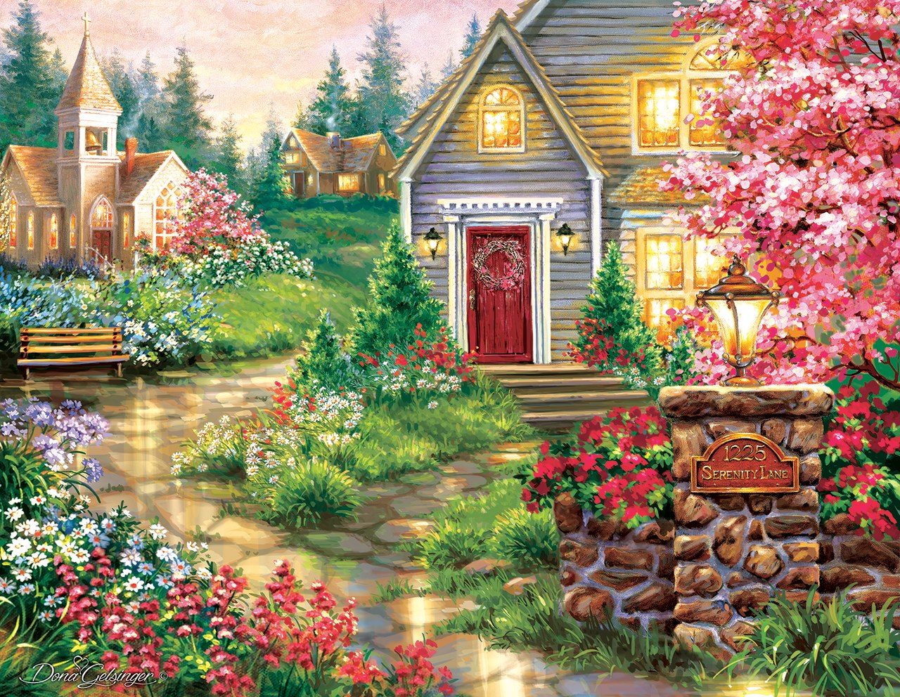 Serenity Lane - 1000+pc Jigsaw Puzzle by Sunsout  			  					NEW