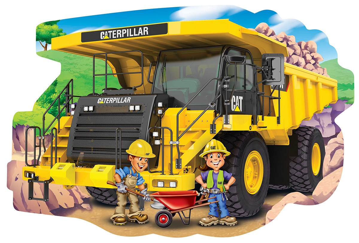 Cat: Dump Truck - 36pc Shaped Floor Puzzle by Masterpieces