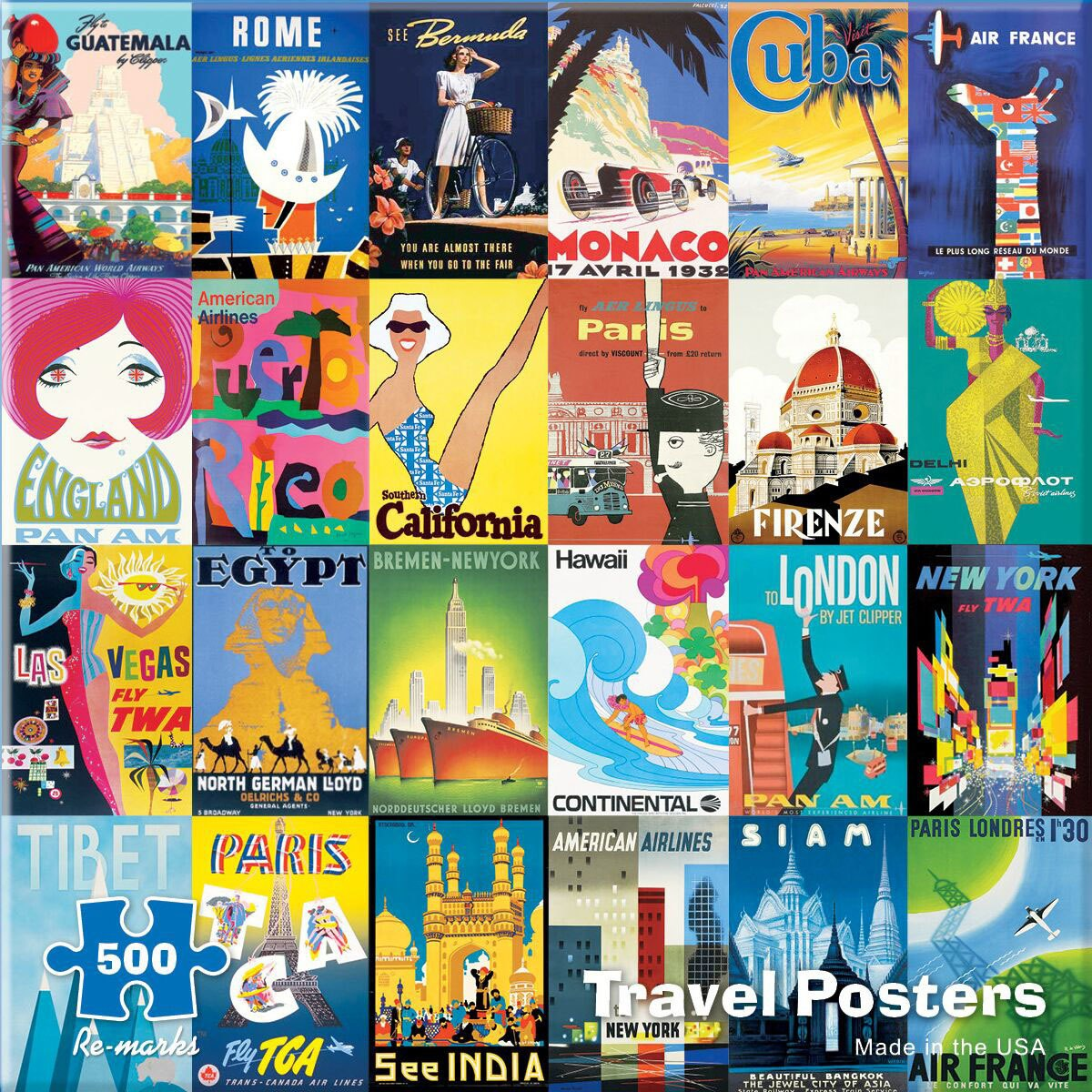 Travel Posters - 500pc Jigsaw Puzzle By Re-marks  			  					NEW