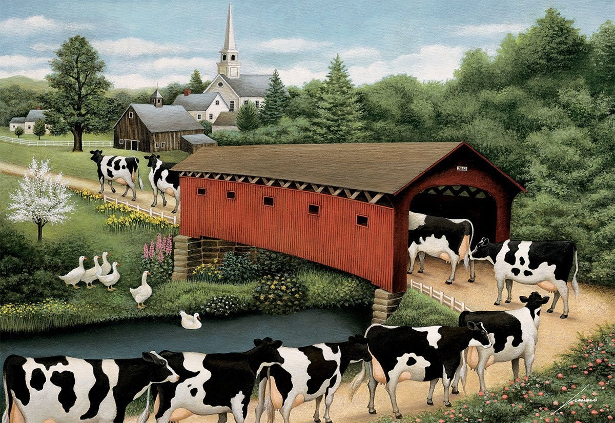Cows Cows Cows - 1000pc Jigsaw Puzzle by Lang  			  					NEW