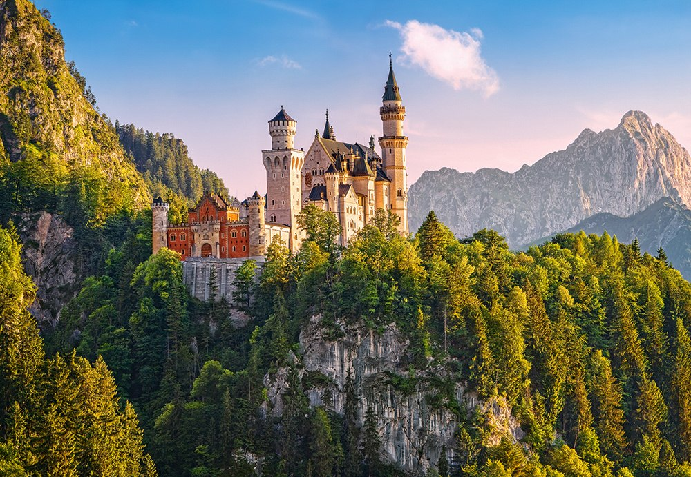 View of Neuschwanstein Castle, Germany - 1000pc Jigsaw Puzzle By Castorland  			  					NEW