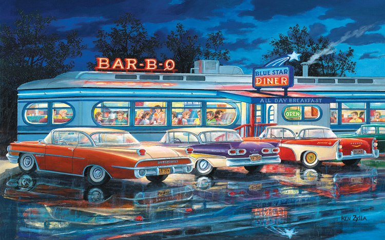 At the Bar-B-Que - 300pc Jigsaw Puzzle By Sunsout