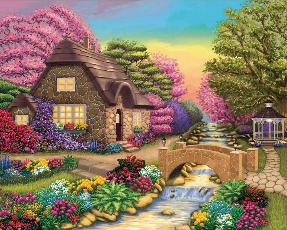 Dream Cottage Retreat - 1000pc Jigsaw Puzzle by Lafayette Puzzle Factory  			  					NEW