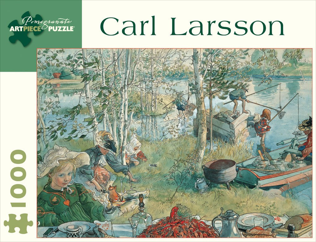 Crayfishing by Carl Larsson - 1000pc Jigsaw Puzzle by Pomegranate