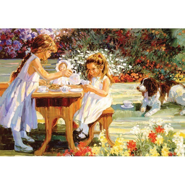 Flower Tots: Tea For Four - 500pc Jigsaw Puzzle by Holdson  			  					NEW