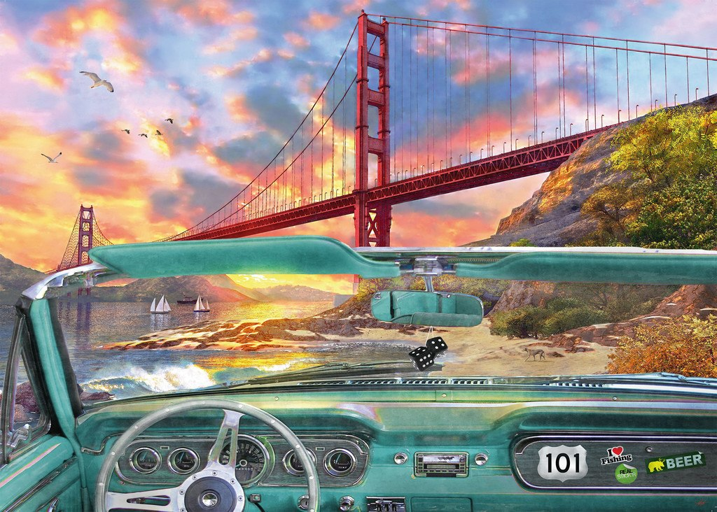 Golden Gate - 1000pc Jigsaw Puzzle By Ravensburger