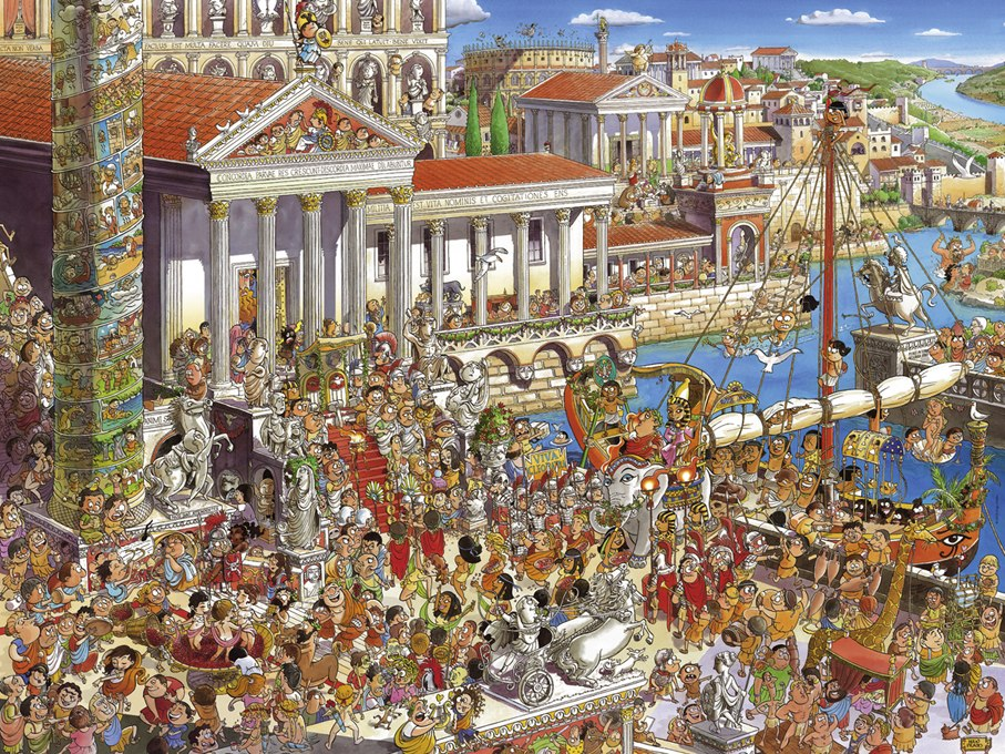 Prades: Ancient Rome - 1500pc Jigsaw Puzzle By Heye  			  					NEW